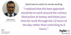 Remote Working Mantra