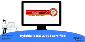 Hylobiz - a Connected Business Banking platform is now ISO 27001 Certified