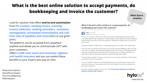 What is the best online solution to accept payments, do bookkeeping and invoice the customer?