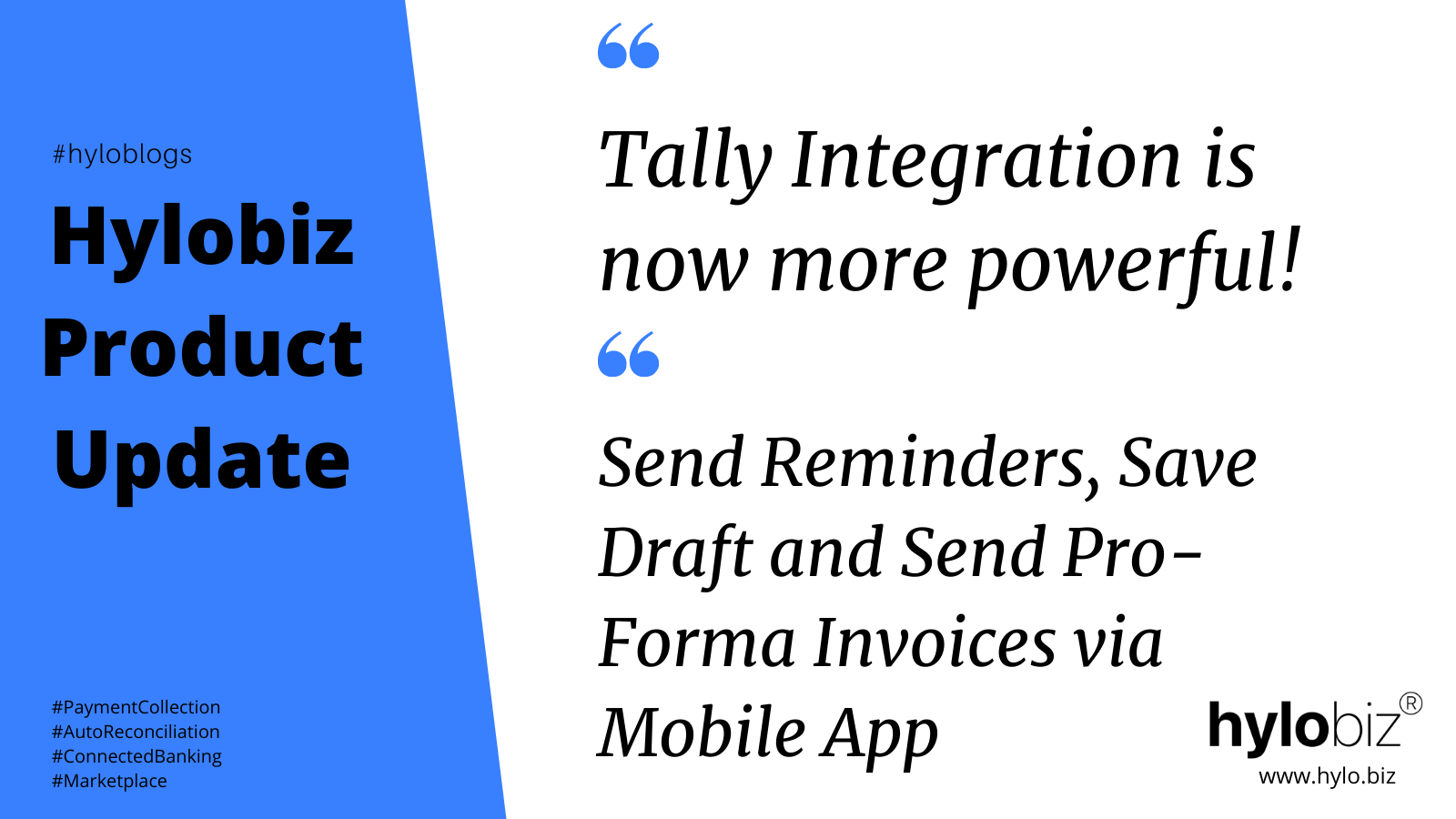 Hylobiz Tally Integration and Hylobiz Mobile App